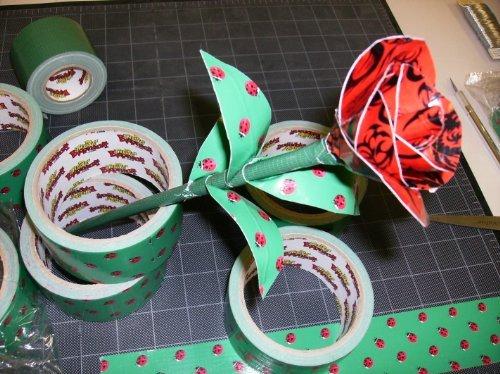 Ladybug Picnic Craft Duct Tape