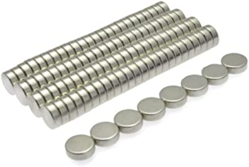 POWER MAGNET STORE Pack of 100-3mm Dia x 2mm Thick Neodymium Neo Disc Magnets Grade N42 Tiny but strong 100 Pull approx 200g Circle Round