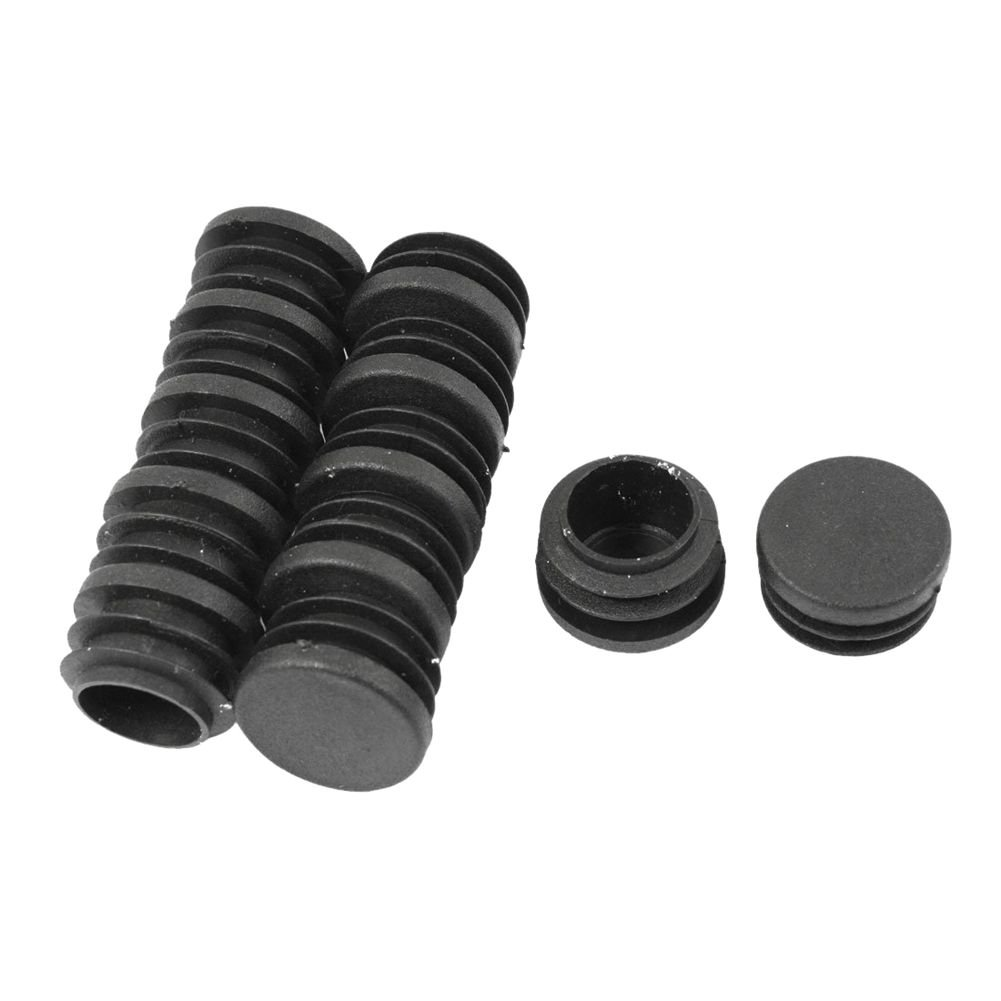 SODIAL(R) 28mm Dia Round Plastic Blanking End Cap Pipe Tubing Tube Insert 12 Pcs