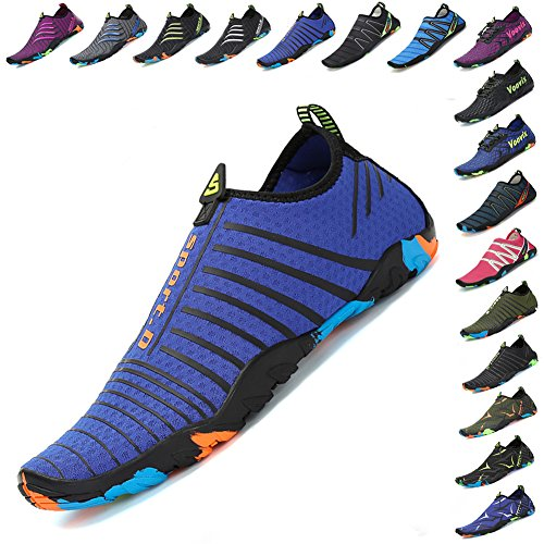 Socks Voovix Mens Quick Beach Water Yoga Aqua Dry Womens Blue Swim Shoes Barefoot I5Iqr8w
