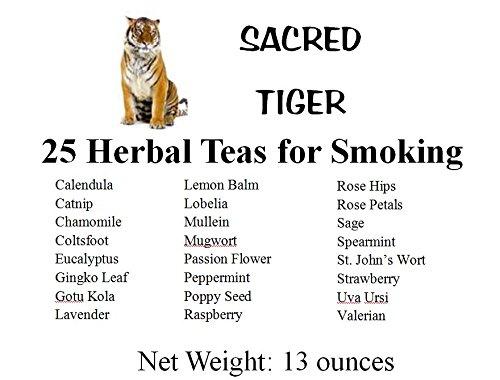Sacred Tiger 25 Herbal Teas for Smoking Sampler Kit Shipped in a Nice Storage Box