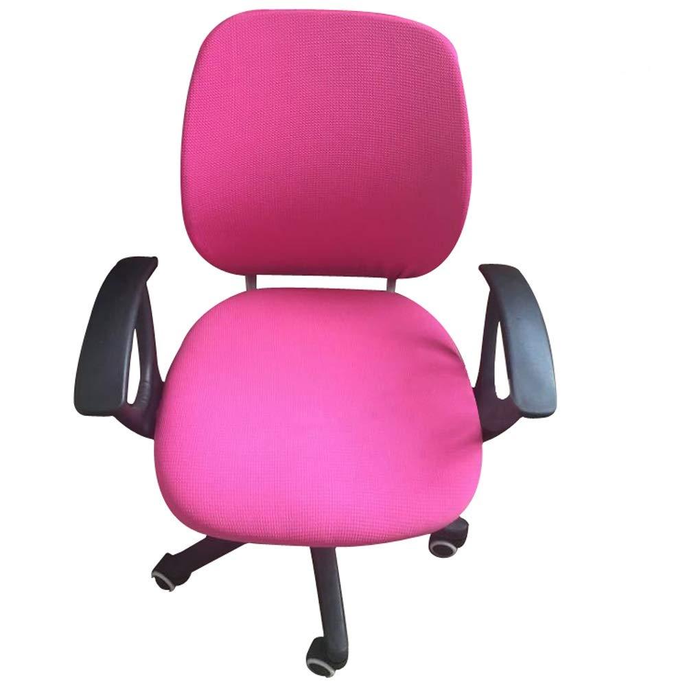 Frifer split sedia da ufficio fodera facile da indossare tratto sedia girevole da ufficio con schienale copertura Fuchsia