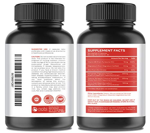 Testosterone Booster Pills for Men - Natural Muscle Strength, Endurance &  Stamina Support - Increase Metabolism for Healthier Fat Burning and Weight