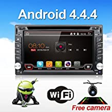 """Bosion Latest product 6.2"""" Android 4.4.4 WIFI Universal In Dash HD Touch Screen Car DVD Player Double Din GPS Navigation Stereo support Mirrior Link/Car Logo/OBD2/Subwoofer + free camera & map"""