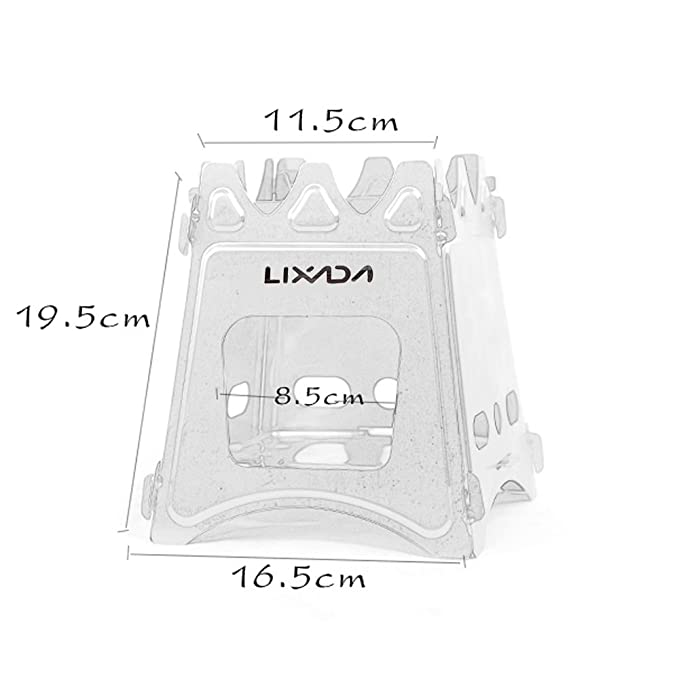 Lixada Estufa de Leña Compacto Plegable para Cámping Cocina Picnic Al Aire Libre: Amazon.es: Deportes y aire libre
