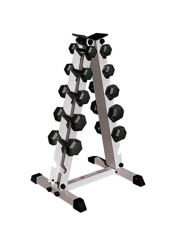 TNP Accessories We R Sports® mancuerna Rack de Peso Pesado Deber Gimnasio Accesorio de Soporte para Mancuernas de Goma Hexagonal 5 Pares: Amazon.es: ...