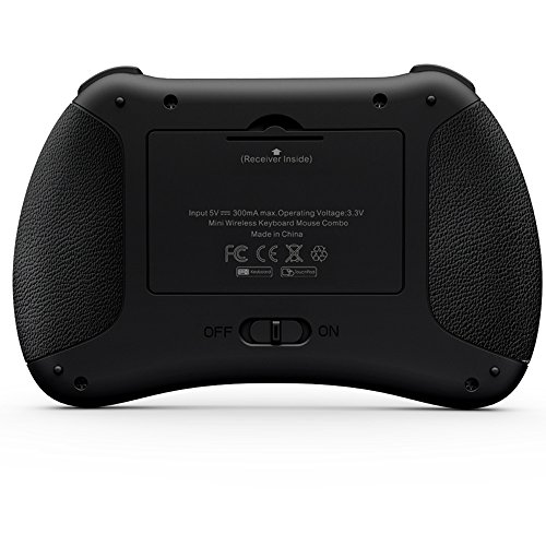 Rikomagic RKM K6 Teclado 2.4G Mando a Distancia Inalámbrico Multimedia para PC, Android TV BOX, Smart TV, Juego