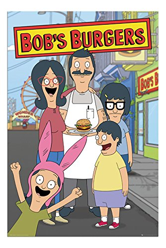 bobs burgers family poster satin
