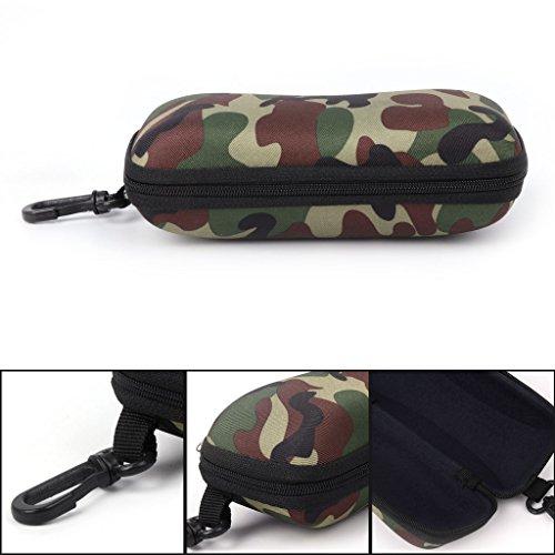 Cicitop Portable Glasses Case Hard Shell Camo Zipper Sunglasses Case Camouflage Storage Case Protector