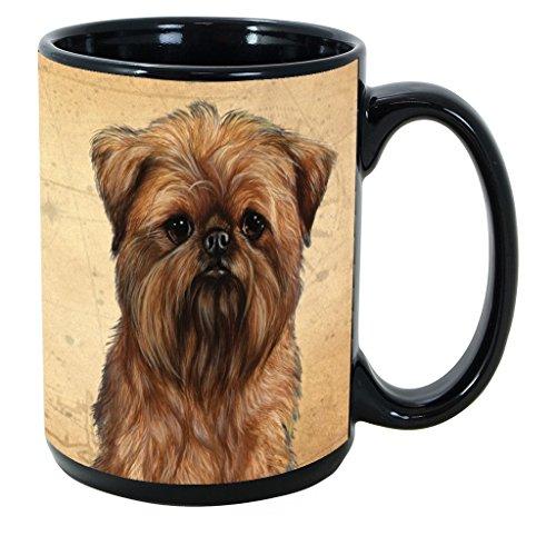 Imprints Plus Dog Breeds (A-D) Brussles Griffon 15-oz Coffee Mug Bundle with Non-Negotiable K-Nine Cash (brussels griffon 038)