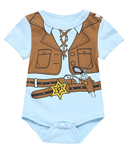 Cowboys Uniforms (Paddy Field Baby boys' Halloween Cowboy Uniform Outfit Costume infant bodysuit (0-3 Months, Cow Boy))