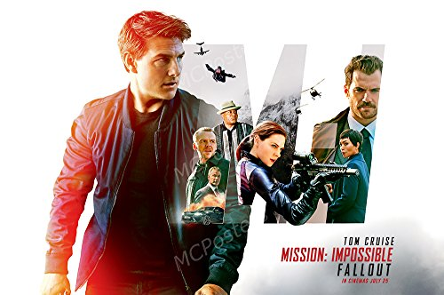 MCPosters Mission Impossible Fallout Tom Cruise GLOSSY FINISH Movie Poster - MCP424 (24