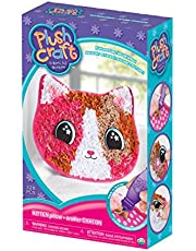 """THE ORB FACTORY LIMITED 10027977 Plush Craft Kitten Pillow, 7.5"""" x 3"""" x 12"""", Pink/Beige/White/Brown"""
