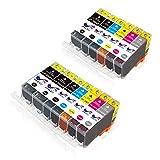ONLYU Ink Cartridges, PGI-225 CLI-226 High Yield Compatible For Canon PIXMA MX882 MX892 MG5320 MG6220 Printers 13-Pack(3Large Black, 2Small Black, 2Cyan, 2Magenta, 2Yellow, 2Gray)