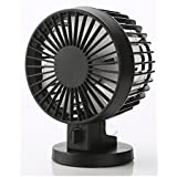 HP95(TM) Mini Small Fan-USB Cooler Desk Fan (Black)