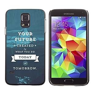 Cubierta protectora del caso de Shell Plástico || Samsung Galaxy S5 SM-G900 || Quote Blue Text @XPTECH