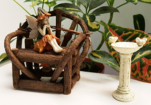 Fairy Garden Bench, Fairy Figurine, Fairy Garden Bird Bath, and Fairy Garden Ideas (Bird Garden Bath Fairy)