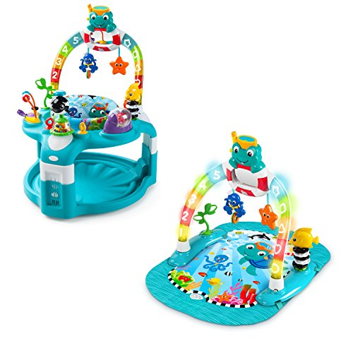 Baby Einstein 2-in-1 Lights & Sea Activity Gym & Saucer by Baby Einstein