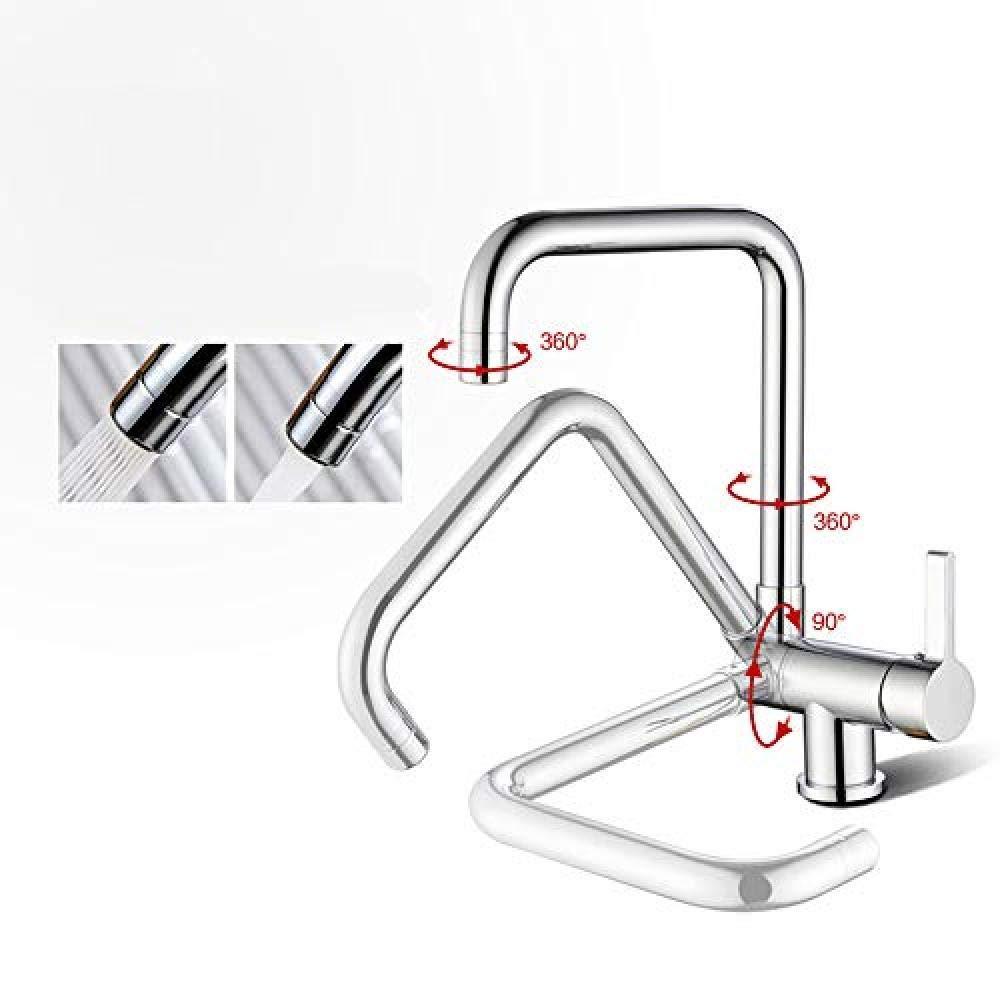 Robinet de cuisine /à fen/être rabattable /à 360 /° /à armature tournante cuisine mitigeur Robinet robinet froid robinet robinet /évier chrom/é