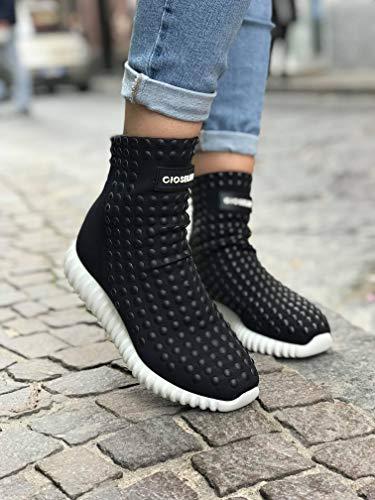 Nere Studs Scarpa Sneakers Light Gioselin Borchie Donna Nero w6PYnfq
