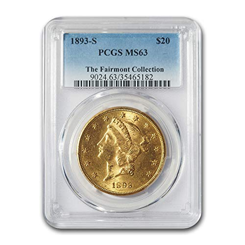 1893 S $20 Liberty Gold Double Eagle MS-63 PCGS G$20 MS-63 PCGS