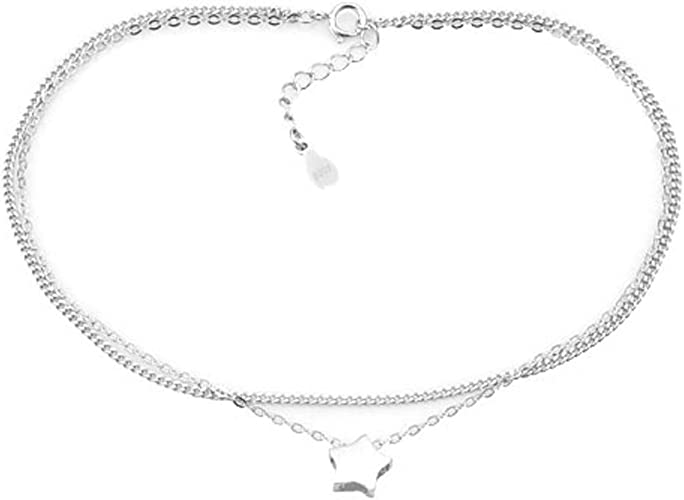 STERLING SILVER STAR OF DAVID CHAIN BRACELET ANKLE CHAIN ANKLET 925