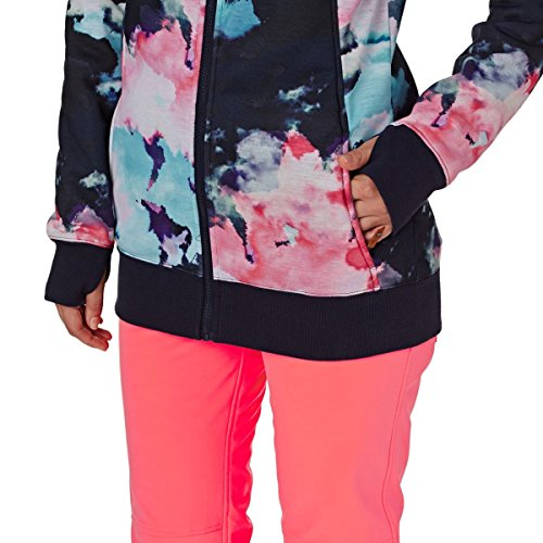 e Grapefruit Cloud Frost Donna Cappuccio Roxy con in Printed Nine Sherpa Zip Felpa Neon 1Aq60ZwPx
