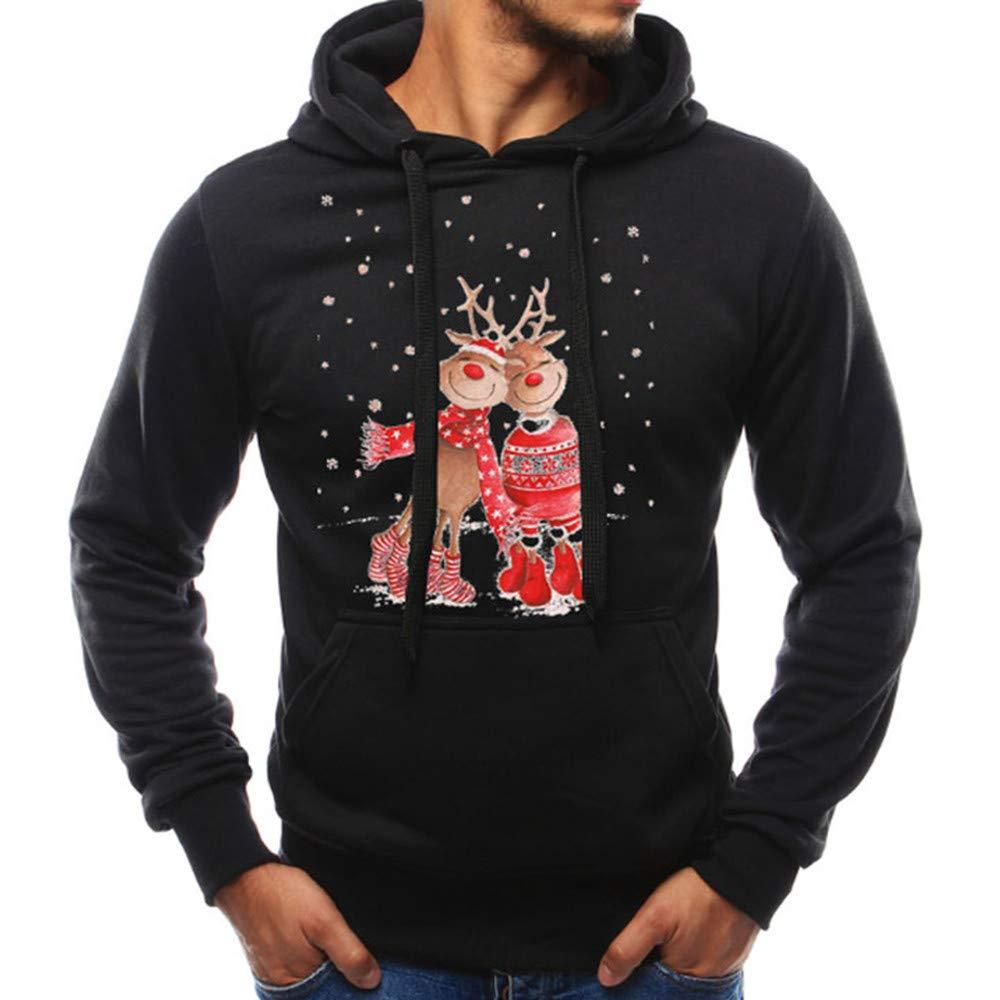 SEWORLD Weihnachten Christmas Herren Mä nner Herbst Winter Pullover Top Gedruckt Weihnachten Sweatshirt Outwear Bluse