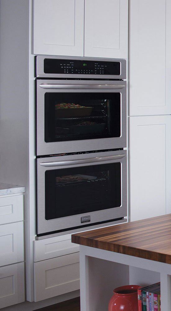 Frigidaire Gallery Collection 27'' Double ELectric Wall Oven with 7.6 Cu Ft. Capacity and True Convection in Smudge-Proof Stainless Steel