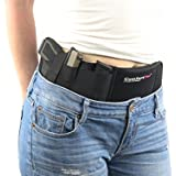 ComfortTac Ultimate Belly Band Holster for Concealed Carry | Fits Gun Smith and Wesson Bodyguard, Shield, Glock 19, 17, 42, 43, P238, Ruger LCP, and Similar Sized Guns | for Men and Women