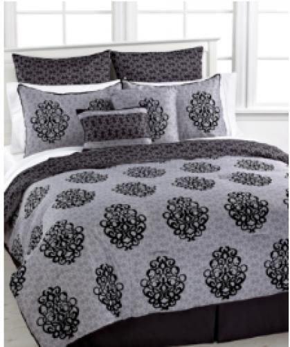 Crest Home Design Liverpool 8 Piece Queen Comforter Taupe
