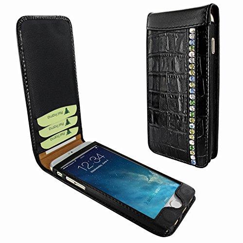 Piel Frama 689 Black Swarovski Crocodile Magnetic Leather Case for Apple iPhone 6 Plus / 6S Plus by Piel Frama