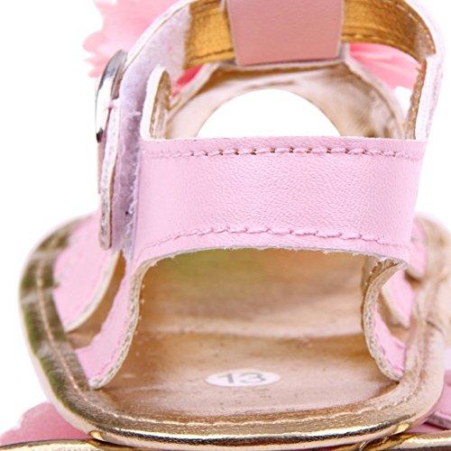 Sandalias De Bebe,BOBORA Prewalker Zapatos Primeros Pasos Para Bebe Las Sandalias Del Nina De La Flor Del Bebe rosa