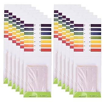 tuantuan 20 paquetes Ph tiras de prueba Indicador de PH 1 – 14 prueba papel tornasol