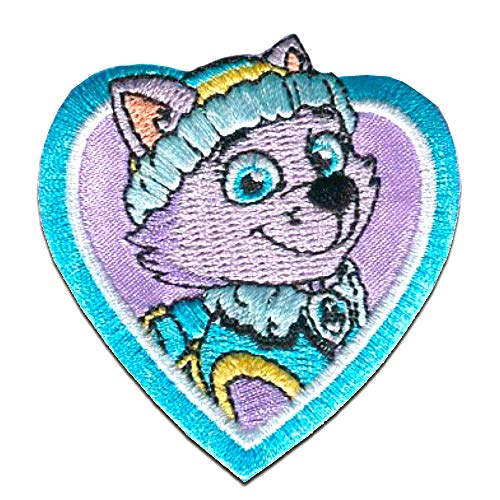 Iron on patches - PAW PATROL 'EVEREST' - purple - 6x6cm - by catch-the-patch Application Embroided patch badges