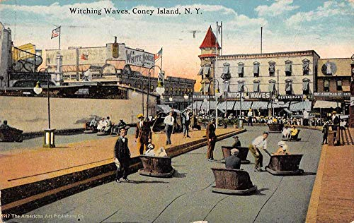 Coney Island New York Witching Waves Amusement Park Ride Postcard JF360261