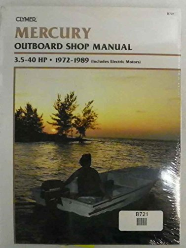 Outboard 40 Hp Parts Manual (Clymer Shop Manual 3.5 - 40 Hp Outboards includes electric motors 1972-1989 WSM B721)