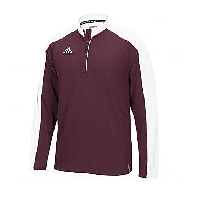 29bd3478 Amazon.com: adidas Men's Climalite Modern Varsity 1/4 Zip Jacket ...