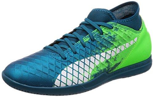 Puma Herren Future 18.4 IT Fußballschuhe Blau (Deep Lagoon-Puma White-Green Gecko)