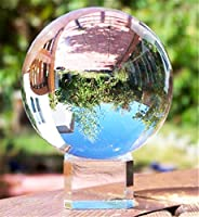 Waltz&F Clear Crystal Ball Paperweight with Base Stand Crystal Collectible Figurines Appro