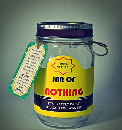 Jar of Nothing - Best Gag Gift   White Elephant Gift   Funny...