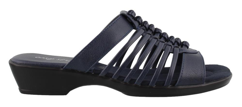 Easy Street Women's, Nola Slide Sandals Navy 9 M