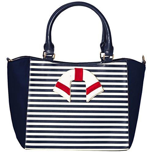 Dancing Days Shopper Tasche - Vintage Nautical Dunkelblau