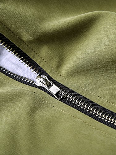 WAJAT - Abrigo Chaqueta para Mujer con Bolsillos Verde
