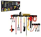 WallPeg 8 sqft Pegboard Organizer & 8 ft Garage Storage Track AM 242+044B