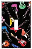 Art Plates® - Single Gang Toggle OVERSIZE Switch Plate - Guitars: Electric