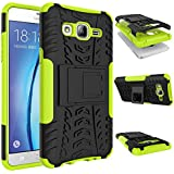 Galaxy On5 Case, MCUK Heavy Duty Rugged Dual Layer - Soft/Hard Shell 2 in 1 Tough Protective Cover Case with Kickstand...