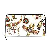 Womens Zipper Wallet Africa Art Culture Mr Paisley Clutch Purse Card Holder Bag