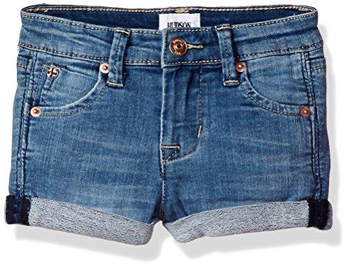 Hudson Jeans Baby Girls Roll Cuff Short, Memory, 18M ()