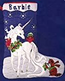 Candamar Designs Unicorn Christmas Stocking Longstitch Needlepoint Kit